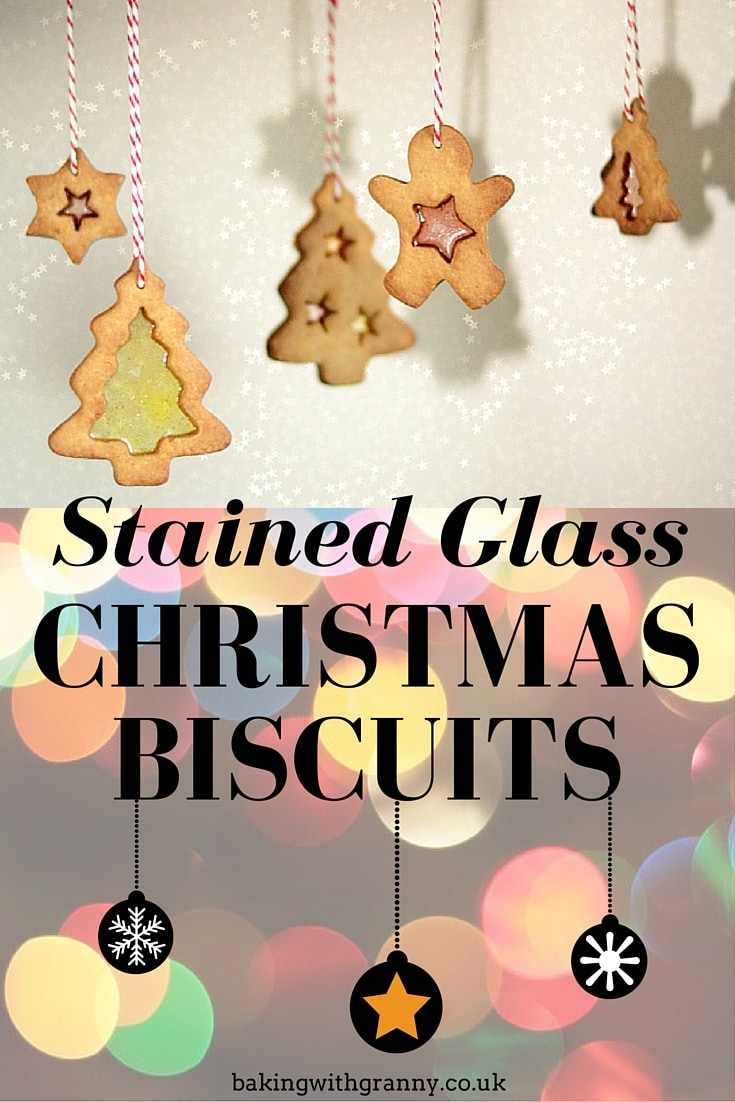 Stained Glass Christmas Biscuits