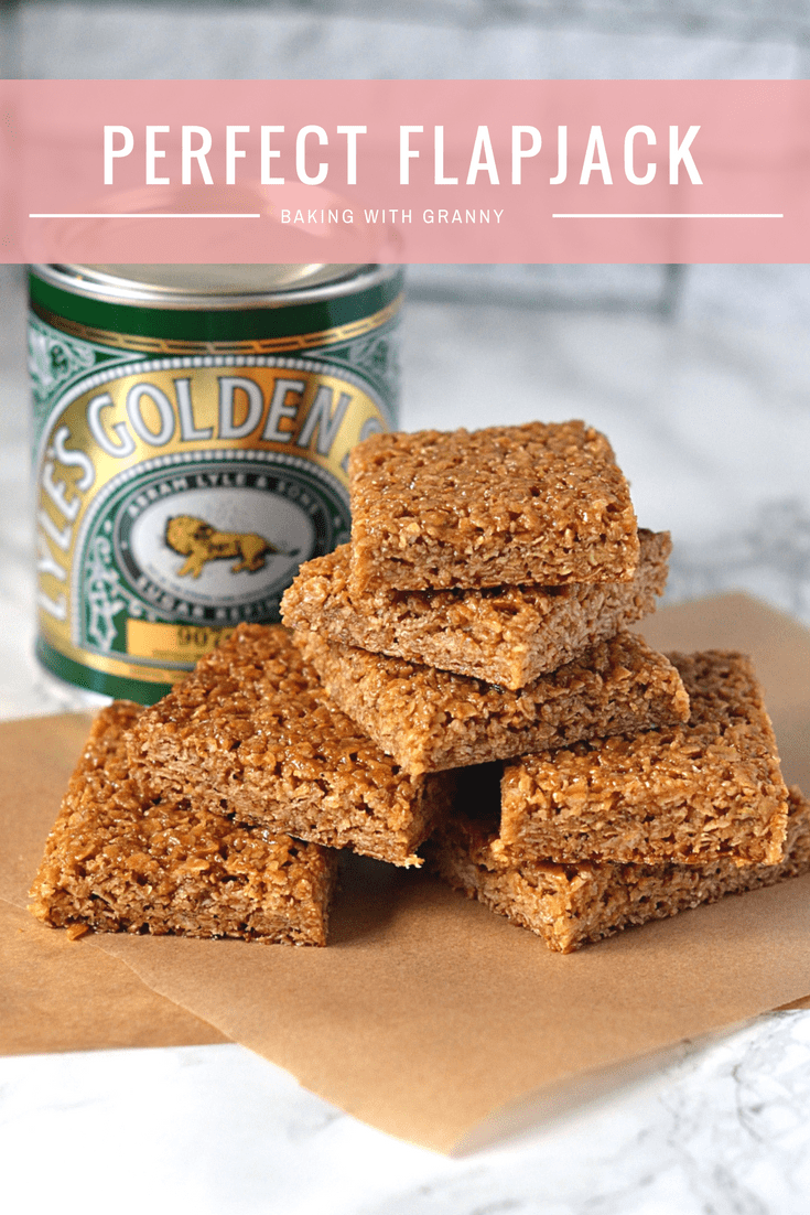 Flapjack Recipe - Baking with Granny. The perfect chewy flapjack, made with Scottish oats and golden syrup.