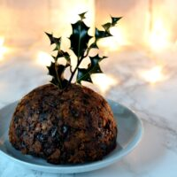 Christmas Pudding - Traditional British Christmas pudding, made on stir up Sunday and enjoyed for dessert on Christmas Day.