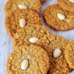 Perkins Biscuits Recipe - Baking with Granny. Traditional Scottish biscuits. Sweet, crunchy, oaty and loving topped with an almond.
