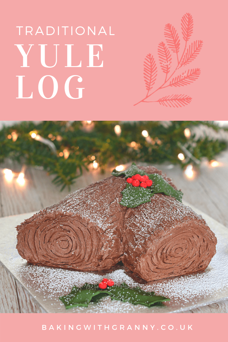 Yule Log - Traditional chocolate yule log recipe for Christmas.