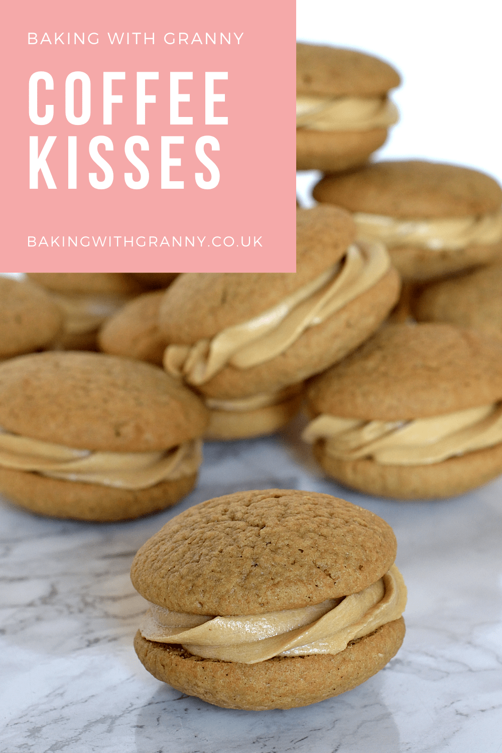 Coffee Kisses biscuit cookie recipe from Baking with Granny.