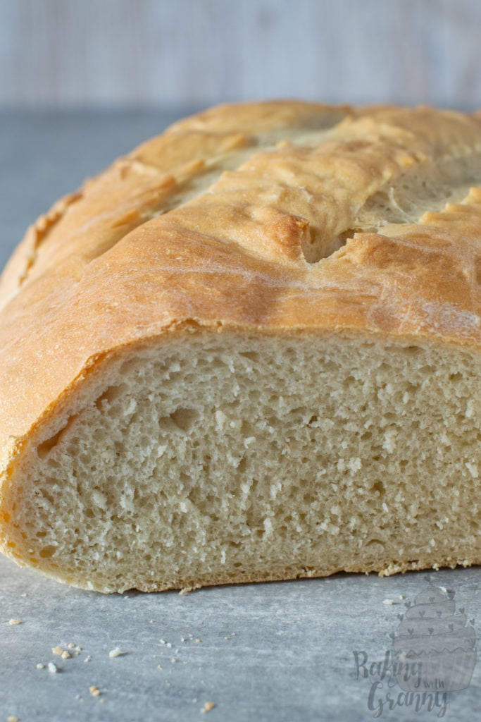 Easy Bread recipe from Baking with Granny. UK recipe with the option to use Plain Flour.