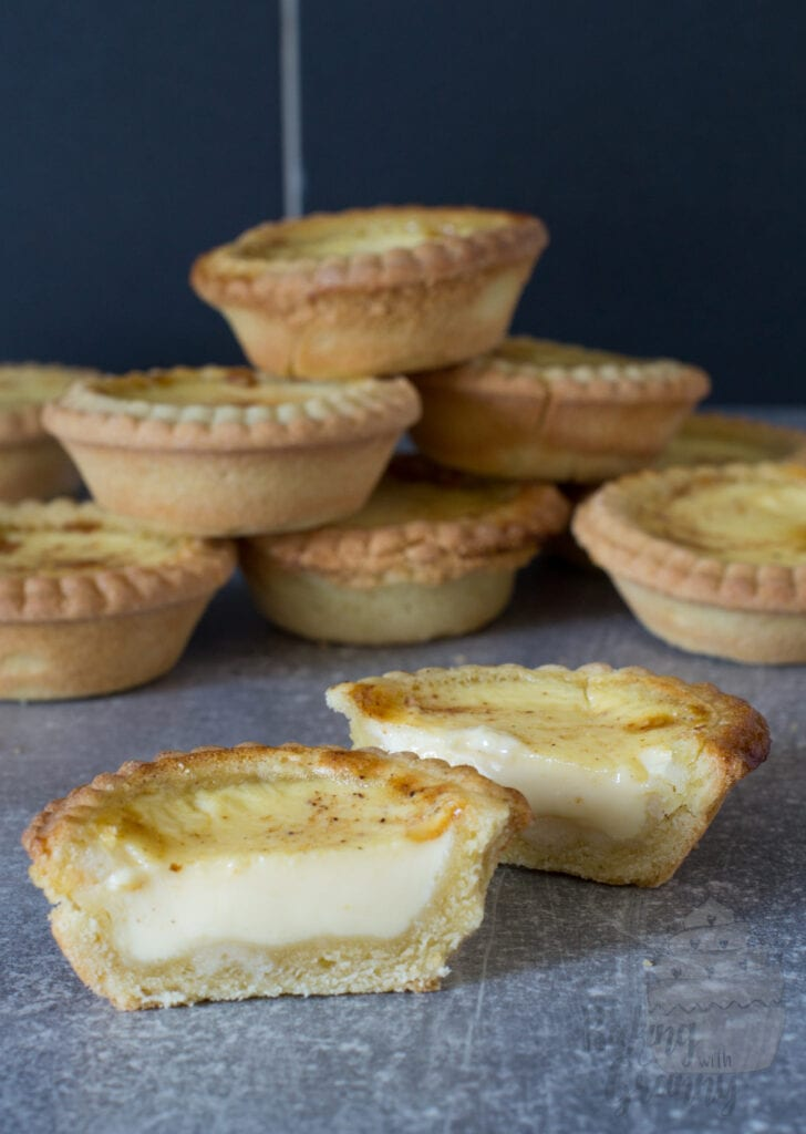 Traditional Custard Tarts recipe from Baking with Granny. Rich pastry casing with fresh home made custard filling.